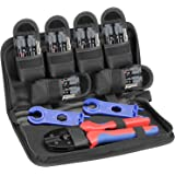 BougeRV Solar Crimping Tools Kit for 14-10AWG Solar Panel Cable, 6 Pairs of Male/Female Solar Connectors + 1 Pair of…