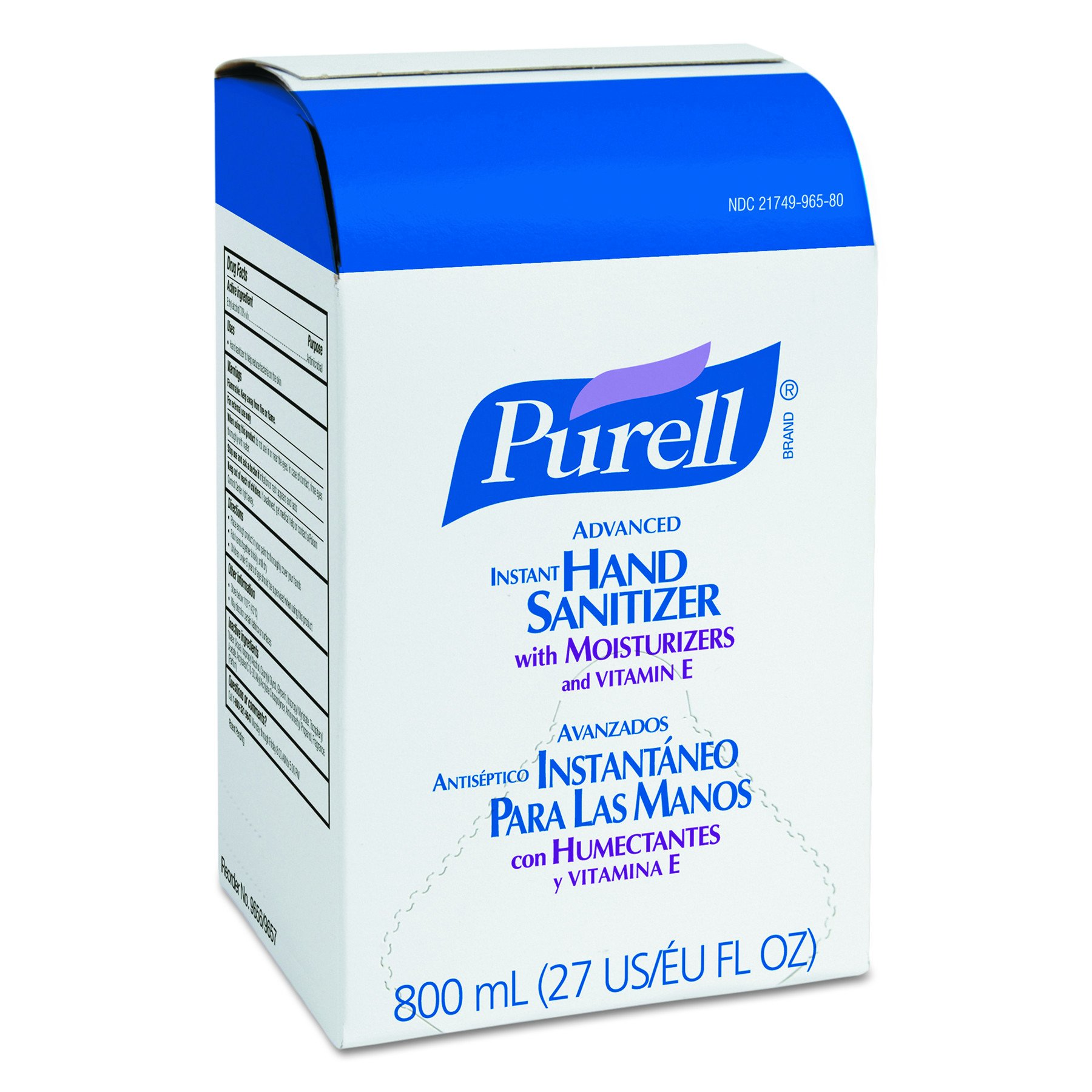 PURELL 965712 Instant Hand Sanitizer 800mL Refill (Case of 12)