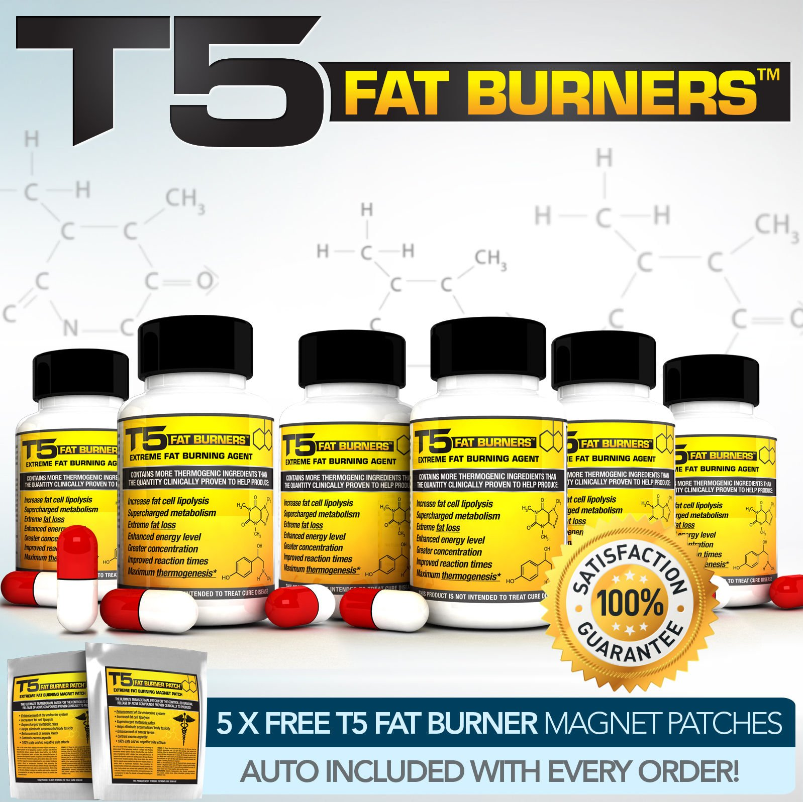 X6 T5 FAT Burners - Worlds Strongest Legal Slimming Tablets / Diet & Weight Loss Slender Product