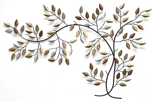 Stratton Home Decor SHD0012 Tree Branch Wall Decor, 39.96 W X 0.50 D X 26.97 H, Bronze Gold Espresso