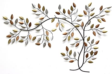 Stratton Home Decor S01356 Over The Door Blowing Leaves Wall Decor 31.89 W X 1.