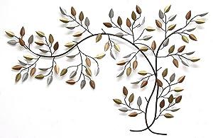 Stratton Home Decor SHD0012 Tree Branch Wall Decor, 39.96 W X 0.50 D X 26.97 H, Bronze/Gold/Espresso
