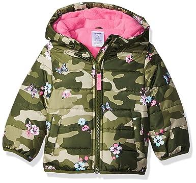 216087010 Amazon.com: Carter's Girls' Fleece Lined Puffer Jacket Coat: Clothing