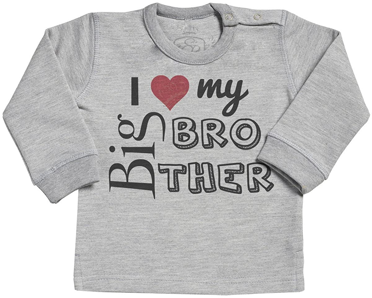 SR Baby Boy Sweater Baby Girl Sweater Baby Sweatshirt Baby Jumper I Love My Big Brother Baby Sweater