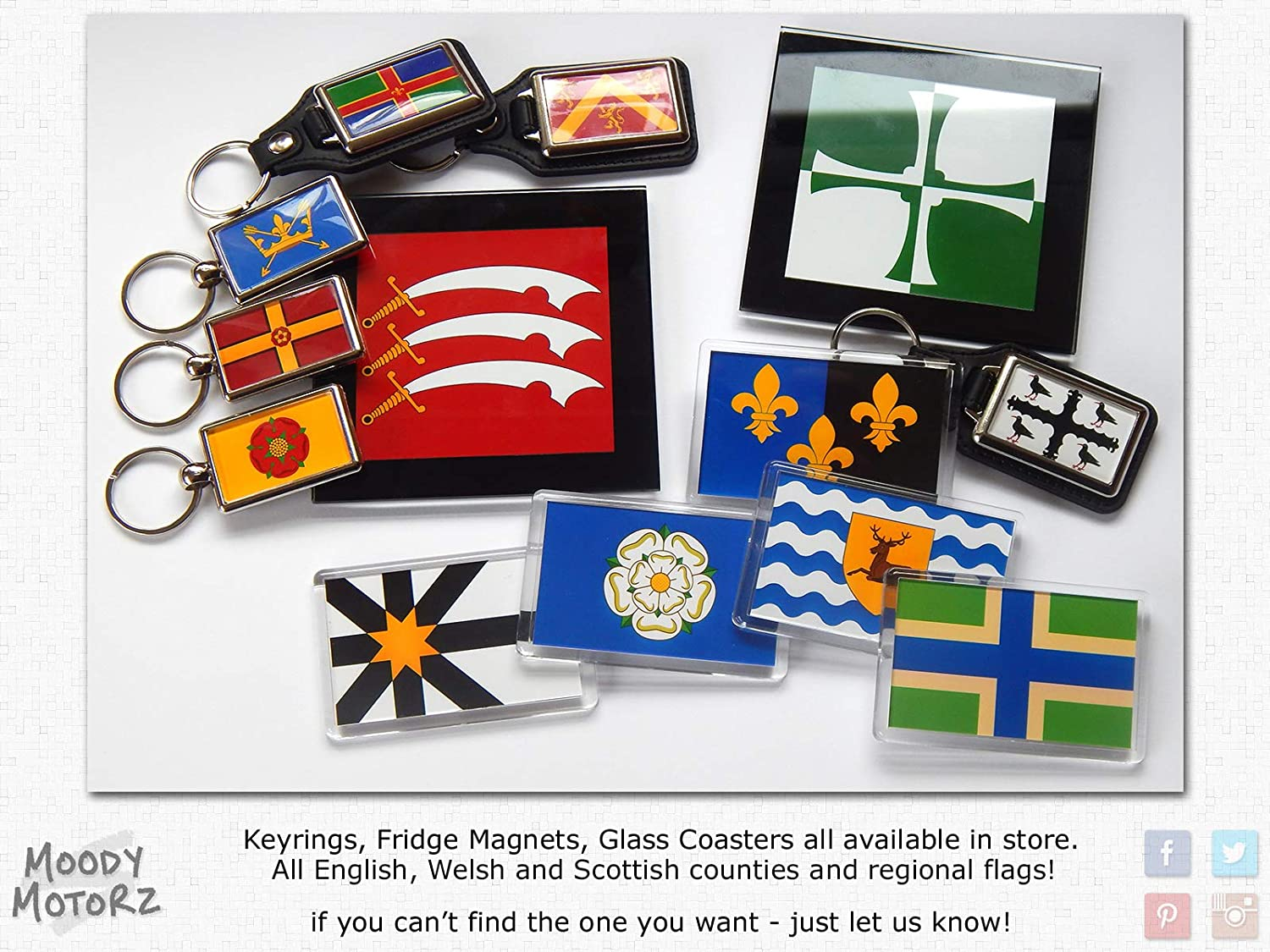 Flag of Israel National Colours Quality Leather and Chrome Keyring