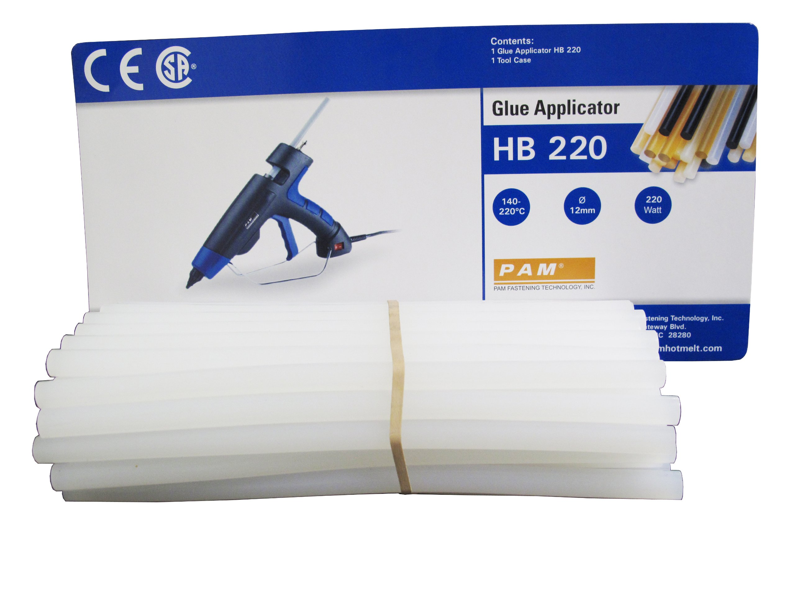 Pam UX8012-50 Hot Melt Adhesive Glue for HB220 Glue Gun 50 Sticks per Pack