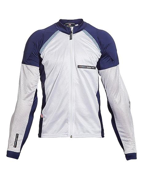 356c22717a7 Bohn All-Season Airtex Armored Riding Shirt - Blue/White - Small
