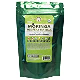 USDA Organic Moringa Superfood Tea-30 Teabags, 100% Pure, Raw, Potent, All Natural, Energy Boosting, Non-GMO. Rich in Nutrients, Amino Acids, Anti-inflammatories, Antioxidants and Vegetable