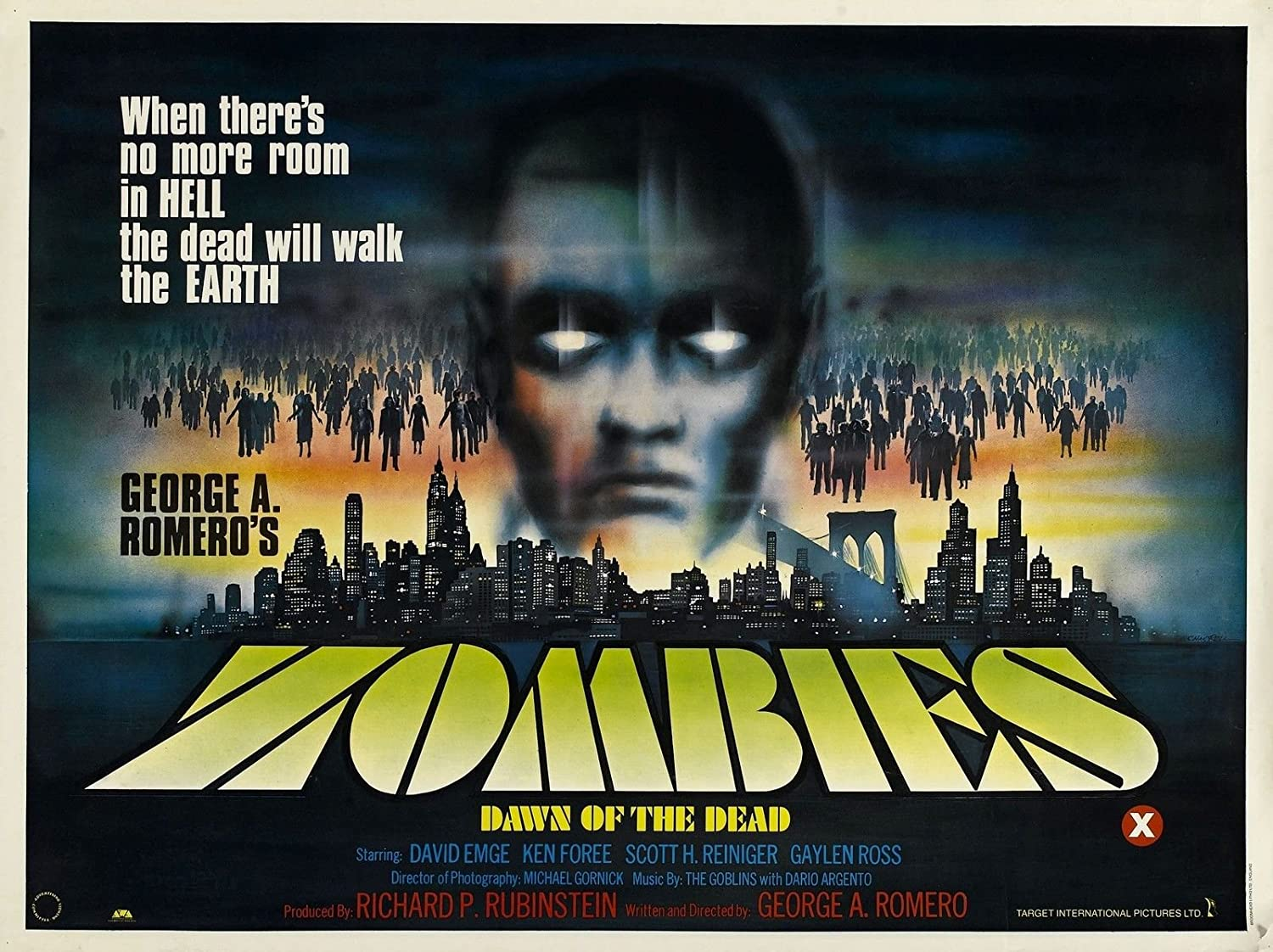 """Dawn Of The Dead Poster 16/""""x24/"""""""