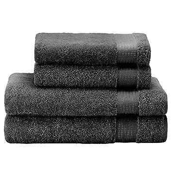 Twinzen ⭐ Lot Serviette De Bain (4 Pièces), 100% Coton, Sans Produits  Chimiques   2 X ...