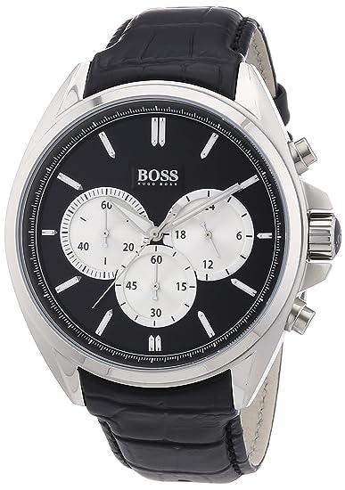 Hugo Boss Reloj analogico para Hombre de Cuarzo con Correa en Piel 1512879: Hugo Boss: Amazon.es: Relojes