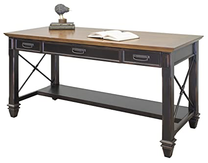 Amazon Com Martin Furniture Hartford Writing Desk Brown Kitchen