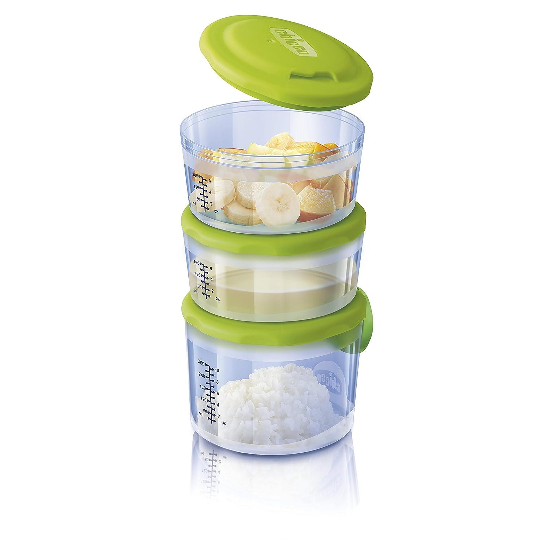 Chicco 00007658000000 Behälter für Babynahrung System 6m plus, mit Flexiblem Zum Verbinden und Kombinieren Der Behältnisse, mehrfarbig Artsana Germany GmbH