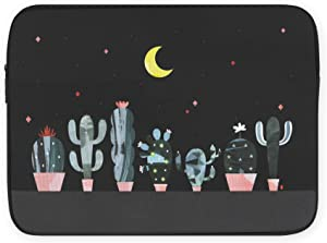 Professional Artists Drawing Shock Absorption Laptop Tablet Sleeve Case Cover Cactus 13 inch