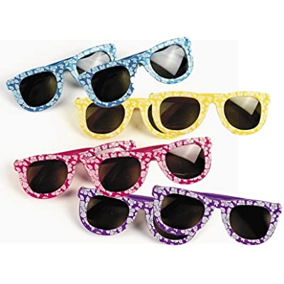 Kids' Hibiscus Sunglasses, 24 Pairs: Toys & Games