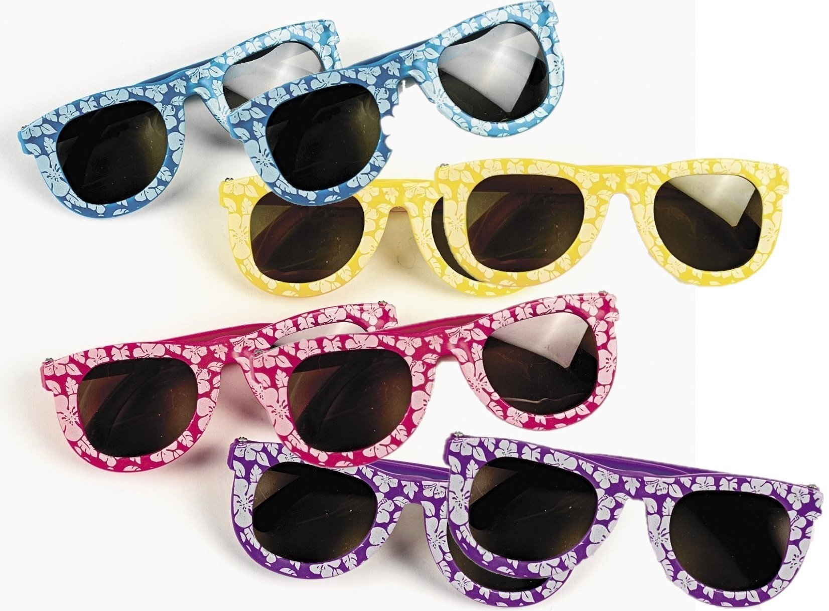 Kids' Hibiscus Sunglasses, 24 Pairs