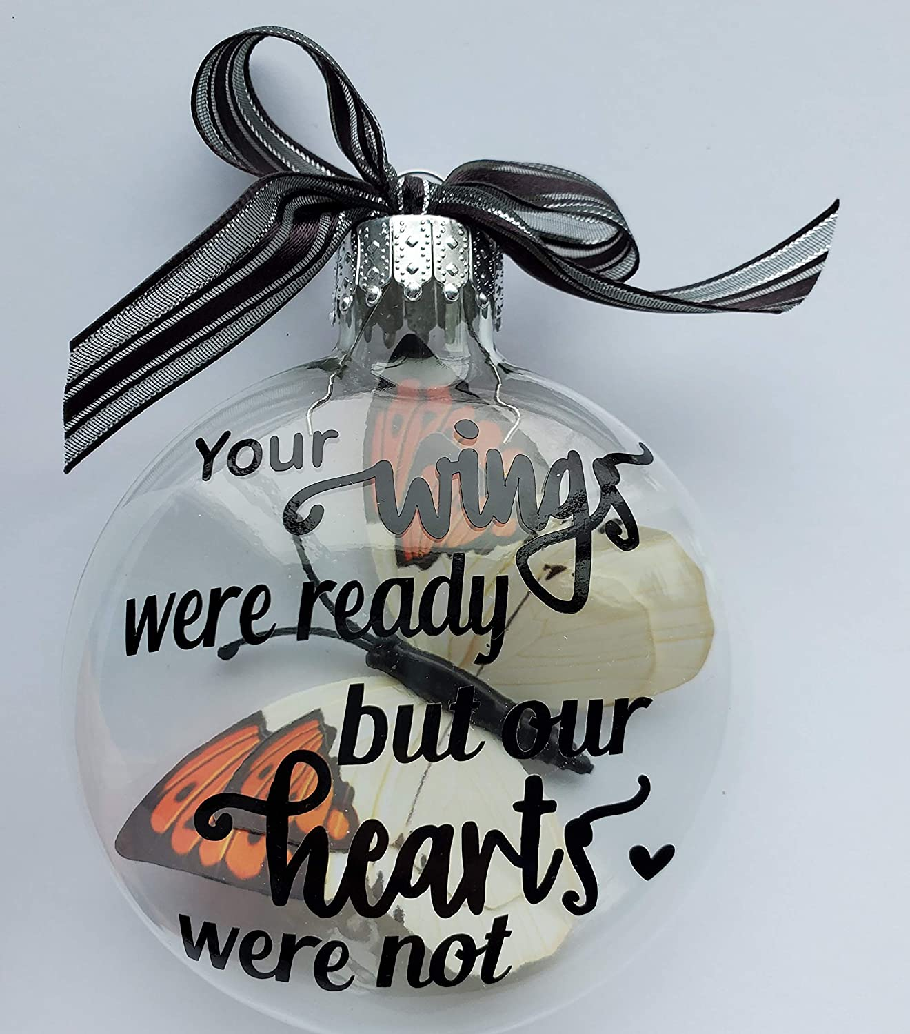 Baby Miscarriage Pregnancy Loss Infant Child Sculpture Heart Angel Wings Remembrance Memorial Personalised Custom Ornament Gift Bereavement