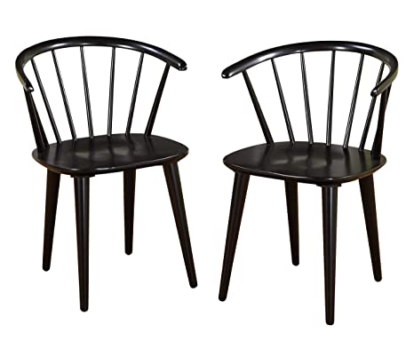 Groovy Target Marketing Systems Set Of 2 Florence Dining Chairs With Low Windsor Spindle Back Set Of 2 Black Alphanode Cool Chair Designs And Ideas Alphanodeonline