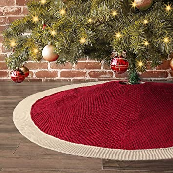 Santa Tree Decoration Skirts CFP Christmas Quilted Cotton Tree Skirt White Heirloom Christmas Tree Skirt Green