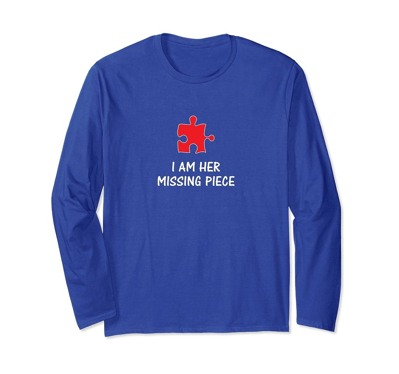 Missing Piece Mens Matching Couple Long Sleeve Shirt-AZP