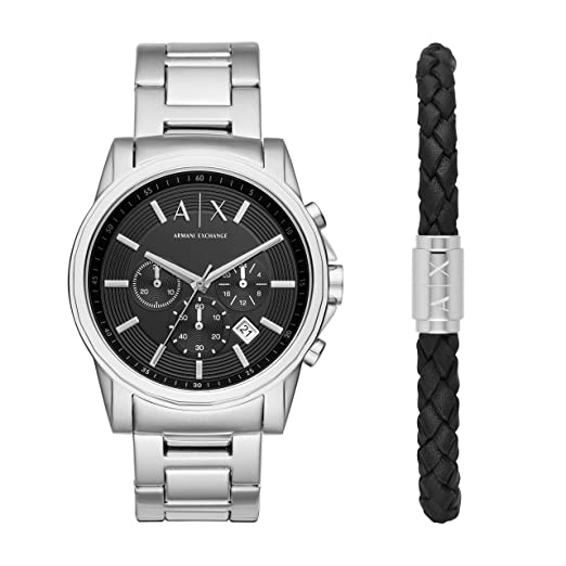 41f6c6092 Armani Exchange Mens Chronograph Quartz Watch with Stainless Steel Strap  AX7100: Amazon.co.uk: Watches