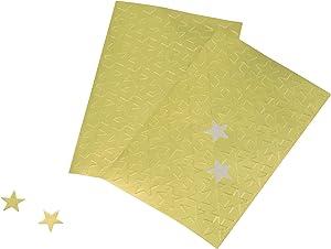 ADVANTUS Self Adhesive Gold Foil Stars, 440 Labels (Z06008)