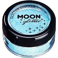 Agitadores de Brillo Pastel por Moon Glitter – 100% Brillo Cosmético para la Cara, Cuerpo, Uñas, Cabello y Labios - 3g - Azul Bebe