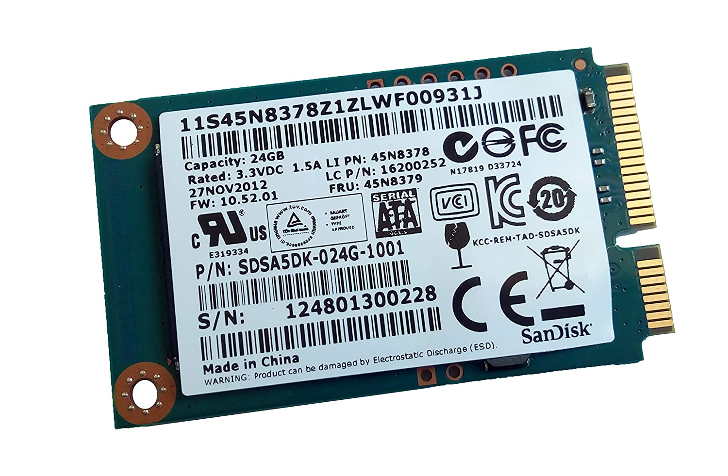 Amazon.com: 24GB mSATA Hard Disk for Lenovo Ideapad Yoga 2 ...