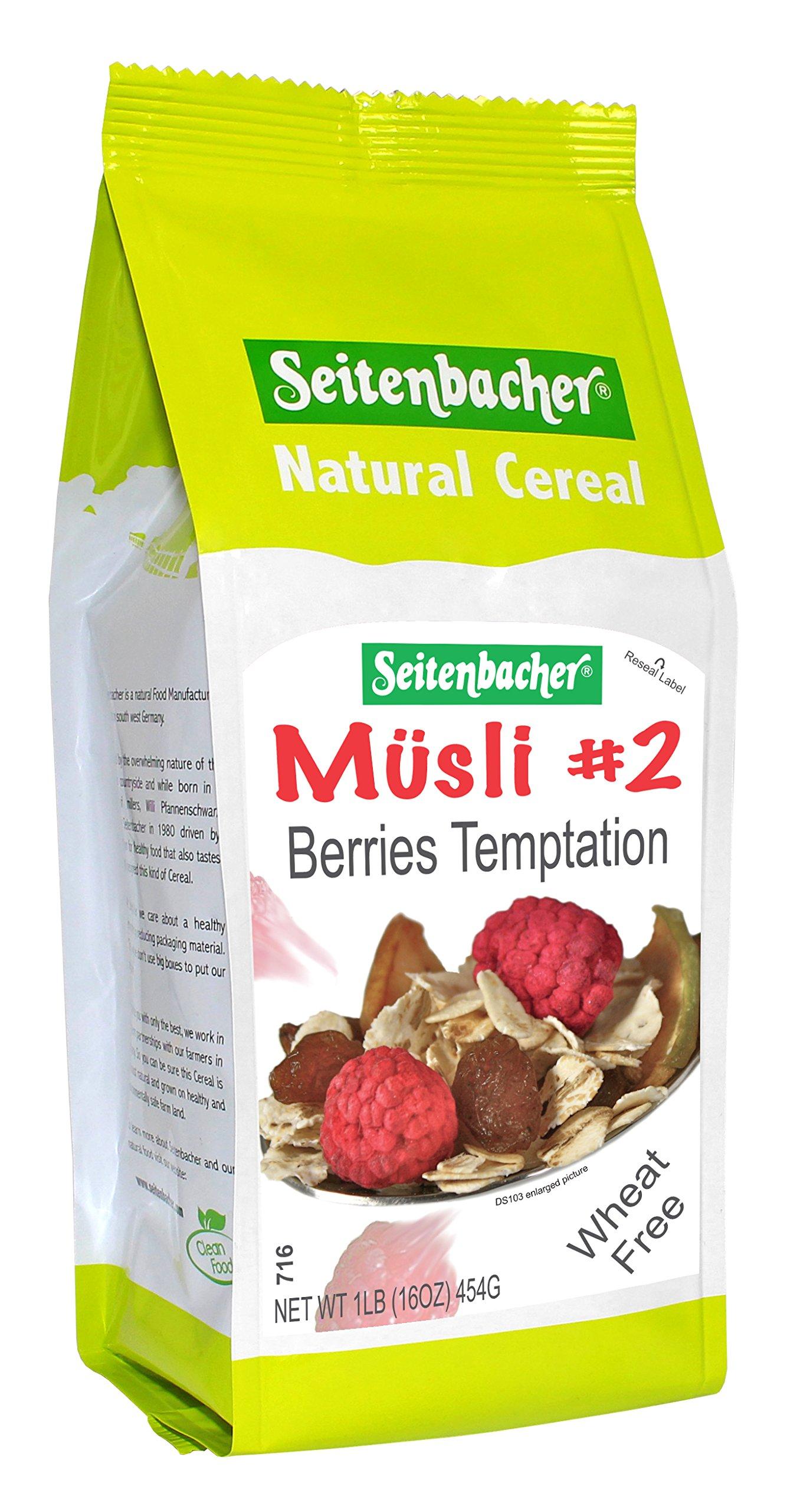 Seitenbacher All Natural Cereal #2 Musli Berries Temptation -- 1 lb - 2 pc by Seitenbacher (Image #1)