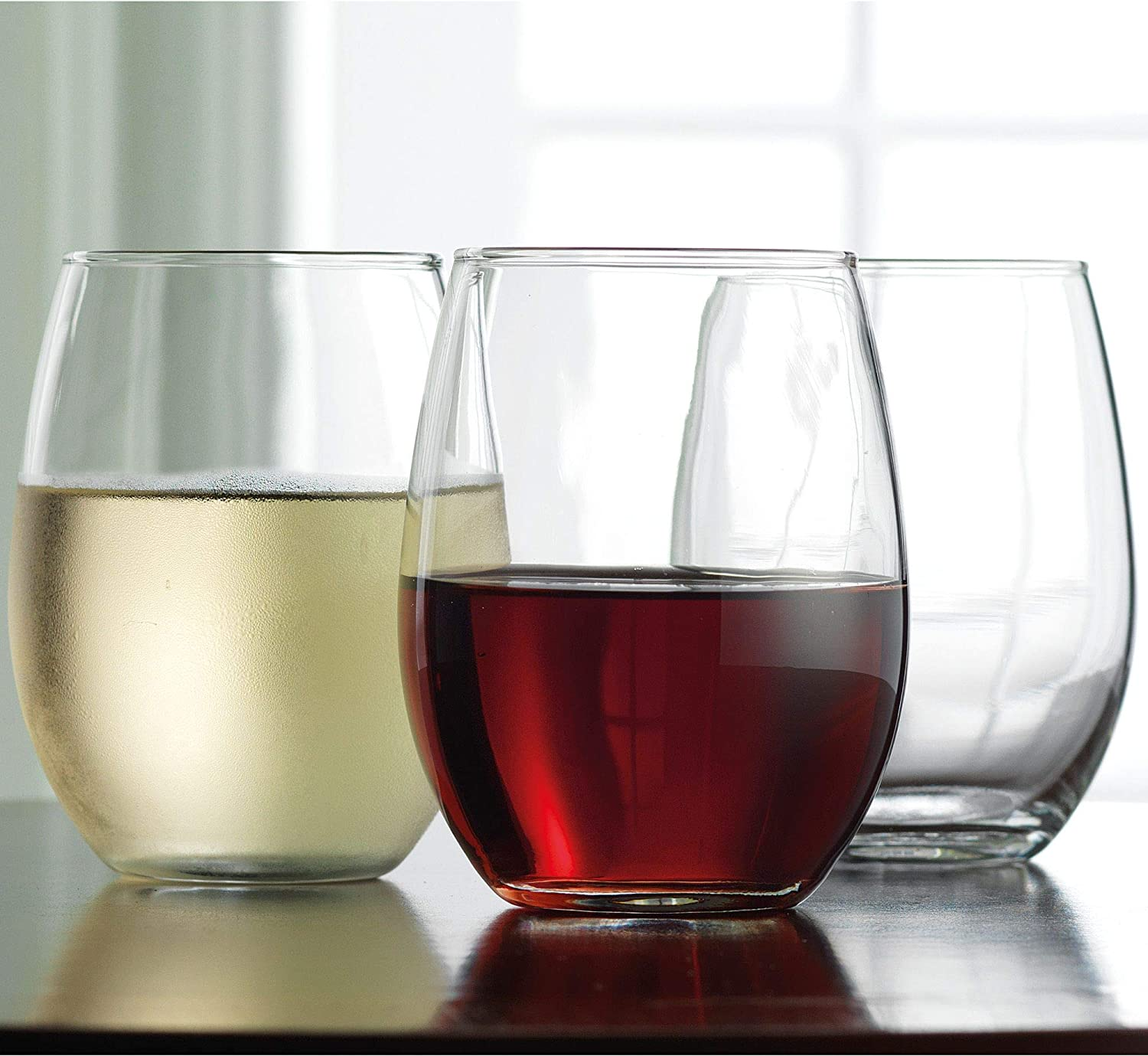 Home Essentials Elysee 15 Ounces Stemless Wine Glass Drinkware Set of 6