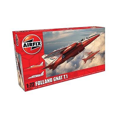 Airfix A02105 Folland Gnat T.1 72 Scale Plastic Model Kit (49Piece), Gray: Toys & Games [5Bkhe1200108]