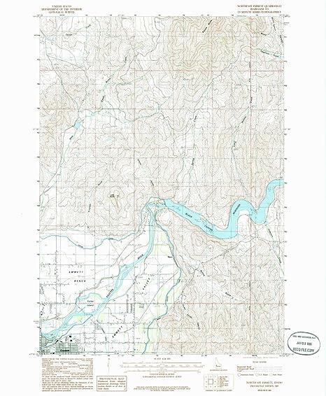 Amazon Com Yellowmaps Northeast Emmett Id Topo Map 1 24000 Scale