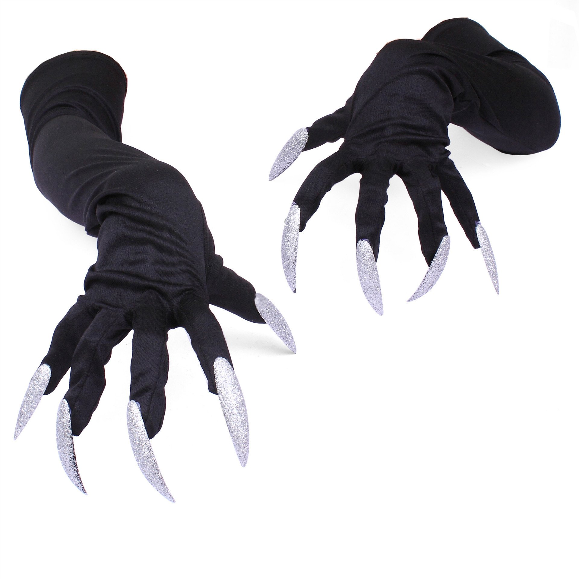 Autumn Water Long fingernail Gloves Halloween hollowen Cosplay Props Hand Sleeve Claws Performing Sleeve Cuff