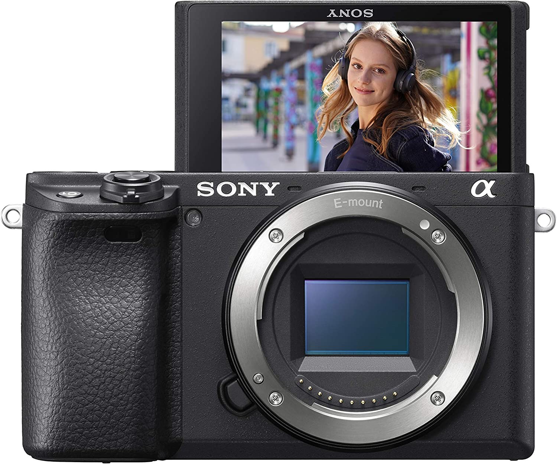 Sony α6400 Appareil photo de type E (Capteur APS-C, Mise au point ultra-rapide, Suivi en temps réel et mise au point automatique Eye AF en temps réel, Enregistrement vidéo 4K en HDR)
