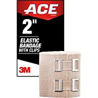 "ACE 2"" Elastic Bandage Wrap with Clips, Beige"