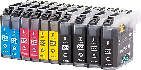 10 Cartuchos de tinta compatibles para Brother LC223XL con chip ...