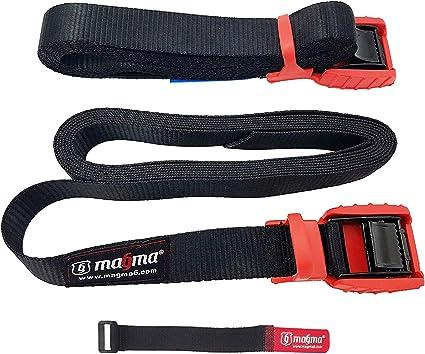 MAGMA Pack 2 Cinchas de Amarre de 3m | Correas para Baca Coche y ...