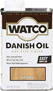 Watco 242219 Danish Oil Wood Finish, Low VOC, Pint, Natural