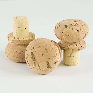 da6b5633523 Amazon.com  Cork Stopper with Rounded Cork Cap (Pack of 10)  Kitchen ...