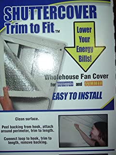 trim to fit whole house attic fan cover