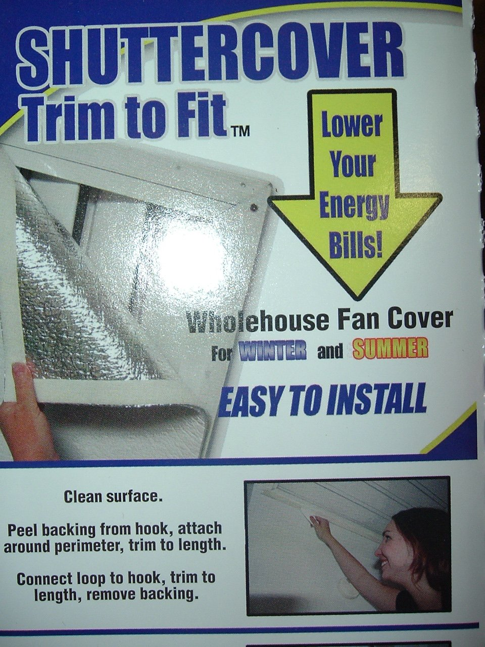 Shuttercover Trim To Fit Whole House Attic Fan Cover good