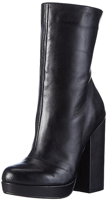 Buffalo London Damen 414-1109 Silk Leather Kurzschaft Stiefel, Schwarz  (Black 01) aafc03cf68
