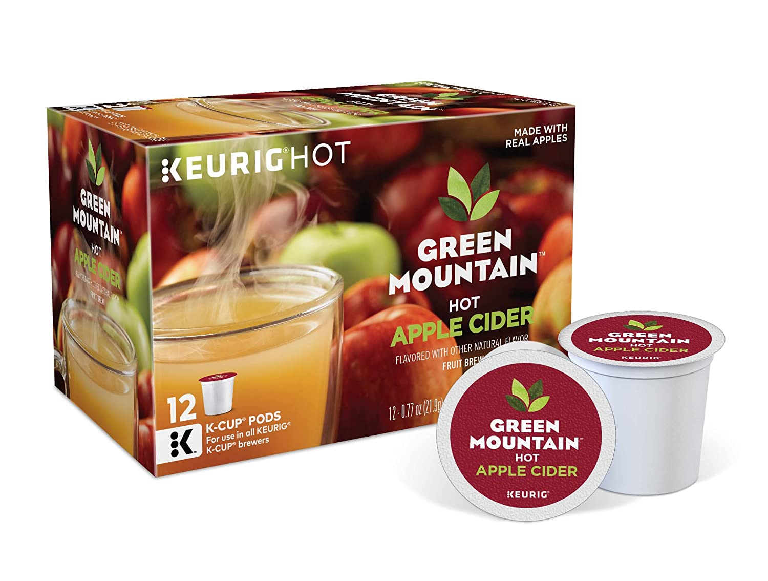 Green Mountain Nautrals Hot Apple Cider, Keurig Single-Serve K-Cup Pods, 72 Count