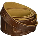"""Perri's Leathers LTD Guitar Strap, 2"""" Wide Deluxe Italian Leather, Super Soft Suede Backing, Adjustable Length, (BM2…"""
