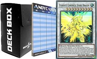 Yu-Gi-Oh! Stardust Chronicle Spark Dragon - Super Rare CIBR ENSE1 plus 1 Black Deck Box God-Player and 1 Scorepad ANDYCARDS