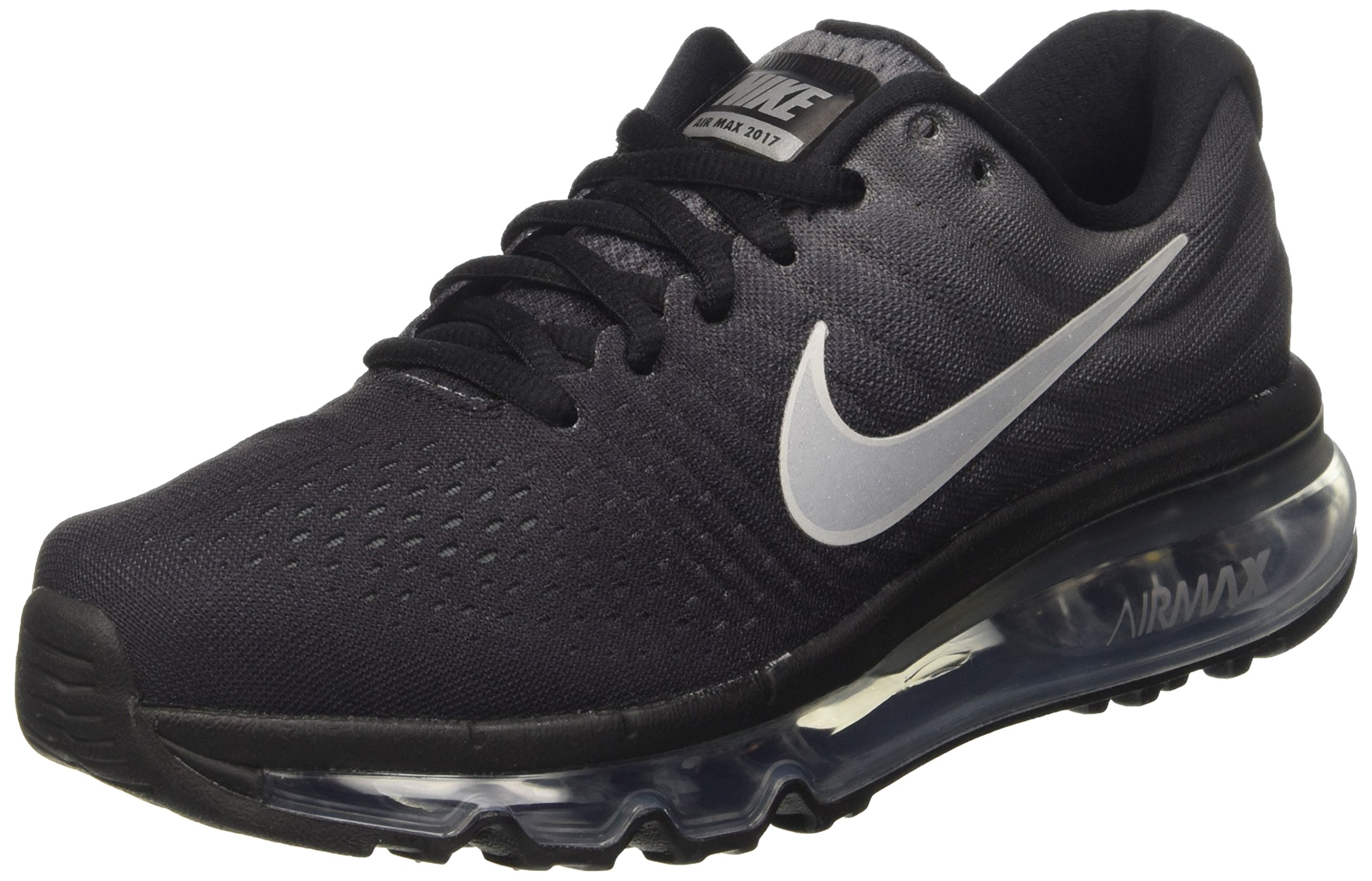 NIKE Kid's Air Max 2017 GS, Black/Summit White-Anthracite, Youth Size 6 by NIKE