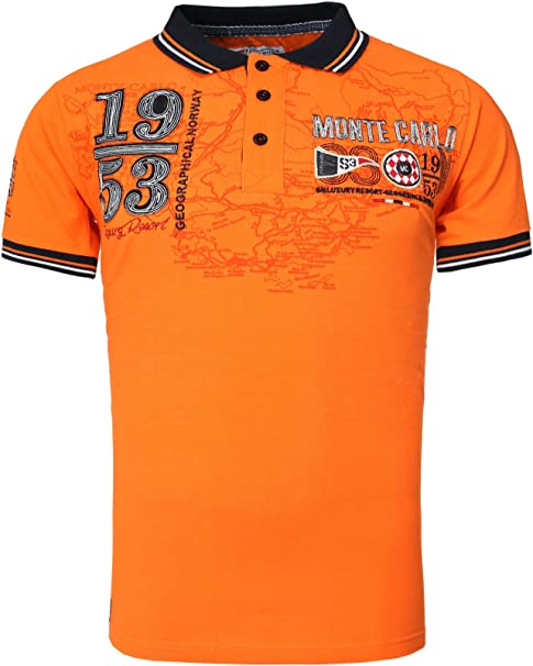 Geographical Norway Hombres Polo Camisa KAROUBIA con Muchos ...