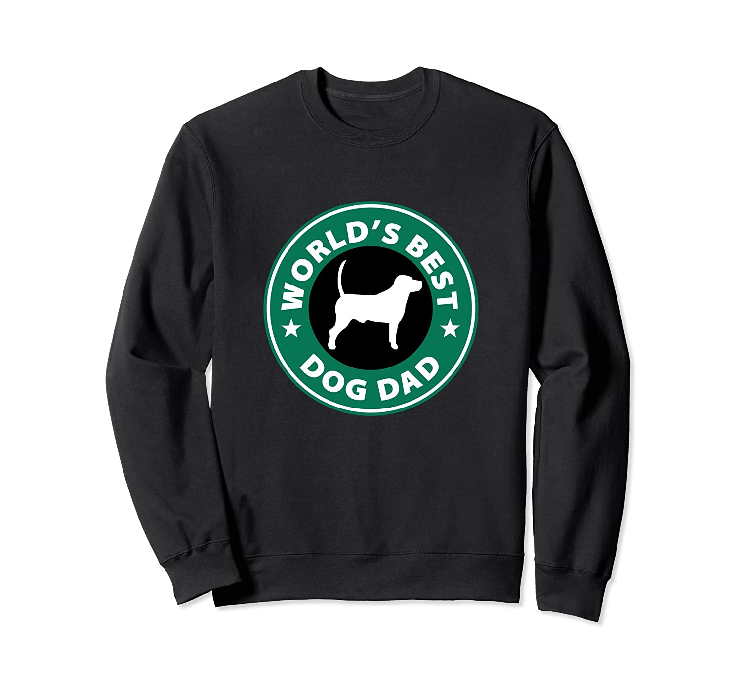 World's Best Dog Dad Cute Pet Love Parody Logo Sweatshirt-TH