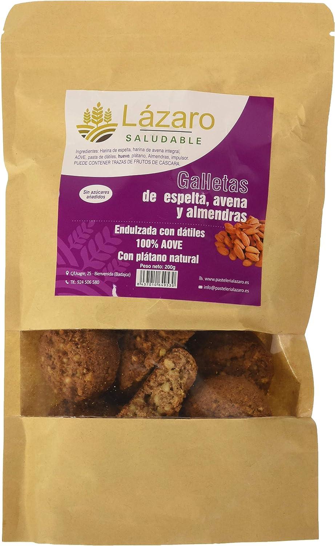 Lázaro Galleta de Avena Espelta y Almendras 200g: Amazon.es: Alimentación y bebidas
