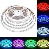LAHOKU---Luci a strisce di LED 32.8Ft (10M) 600leds /60 luci per metro,Luce a striscia flessibile RGB 24V SMD5050 LED strisce, luci a LED con,illuminazione LED(impermeabile)